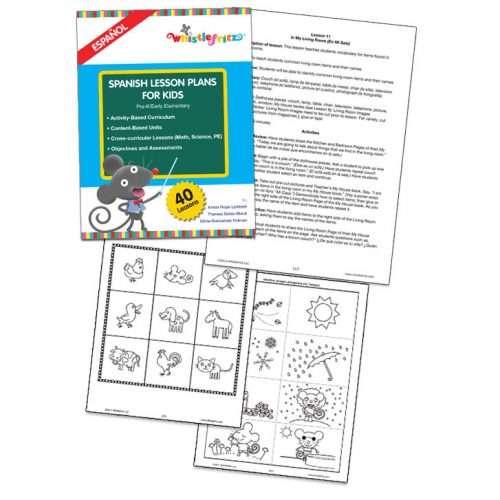 Livre de leçons en espagnol pour les enfants - Version numérique
