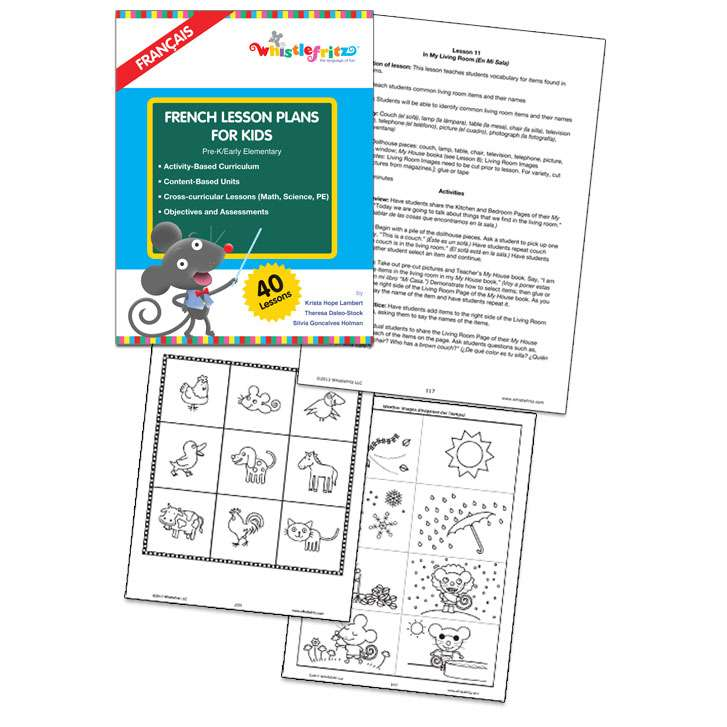 French Lesson Plans for Kids - Digital Download